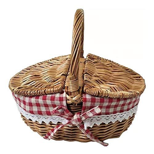 Auart YiLei-LL CestaPan, Preparación de Picnic, Cesta de Compras, cestas de Mimbre...
