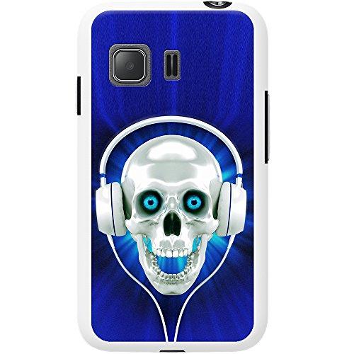 Teschio con cuffie cover/custodia per Nokia cellulari, Blue Skull With Headphones, Nokia 8
