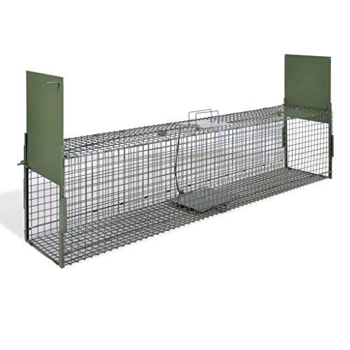 mewmewcat Plegable 2-Puerta Trampa para Animales Jaula Trampa para Ratón Ratas Zorros...