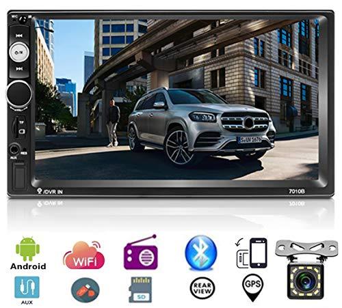 17,8 cm Android 8.1 Doppia Din Autoradio Stereo Bluetooth Podofo Touch Screen MP5 Player Supporto WiFi GPS Ricevitore Radio FM Link specchio AUX TF USB + 12 LED Telecamera Posteriore