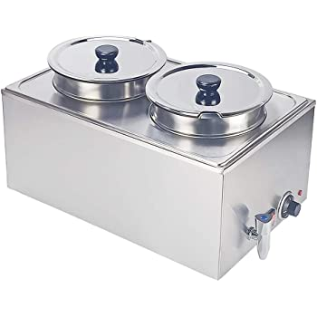 2019 Brand New Stainless Steel Commercial Electric Bain Marie With 4 Pans /& Lids