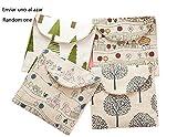 BIGBOBA Damenbinden-Tasche aus Baumwolle, für Damen Mädchen, für Make-up, Damenbinden,...
