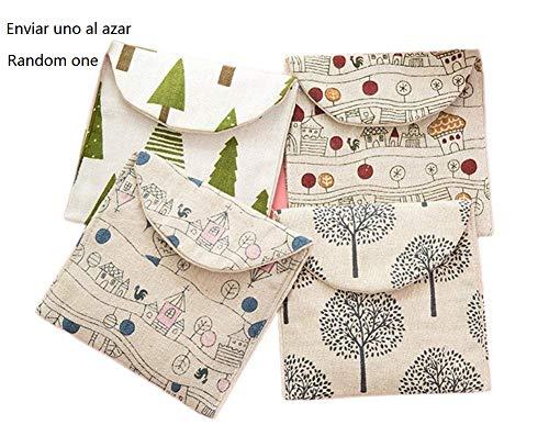 BIGBOBA Damenbinden-Tasche aus Baumwolle, für Damen / Mädchen, für Make-up, Damenbinden, Geldmünzen, Kosmetik