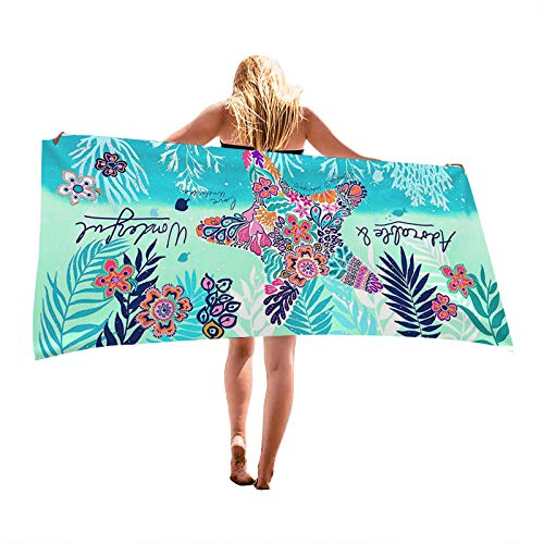 Beach Towel, KavRave Oversized Microfiber Beach Towels for Travel, Quick Dry Towel for Swimmers Sand Proof Beach Towels for Women Men Girls, Cool Pool Towels Beach Accessories Super Absorbent Towel