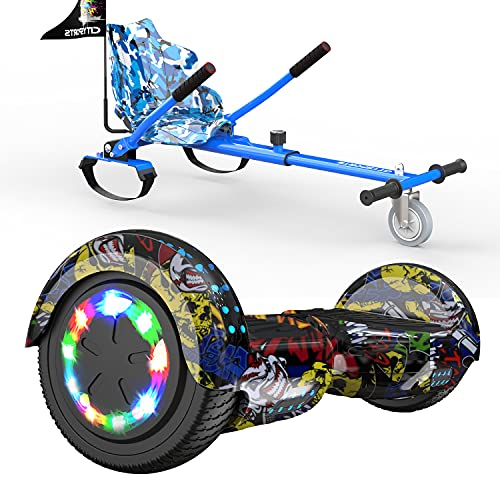 SOUTHERN WOLF Hoverboards Go Kart, Hoverboard con Silla, Luces LED de Rueda...