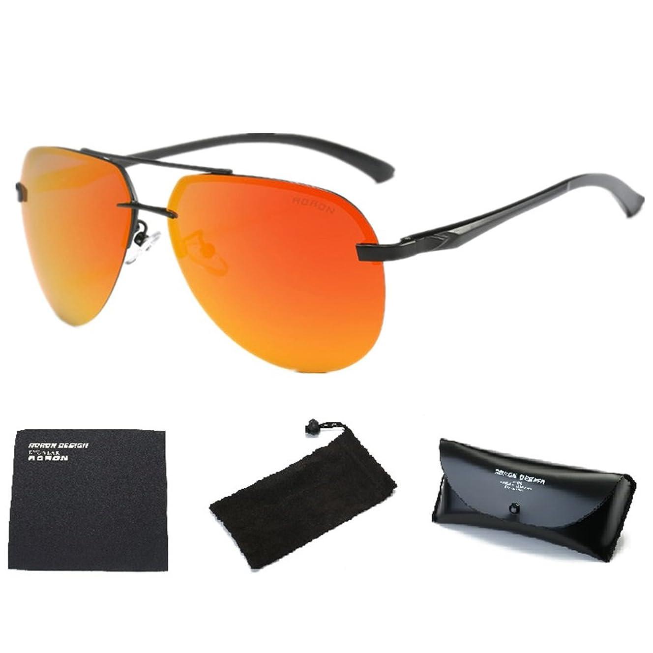 Wonzone Men's Aviator Sunglasses Polarized UV400 for Men Women with Sun Glasses Case