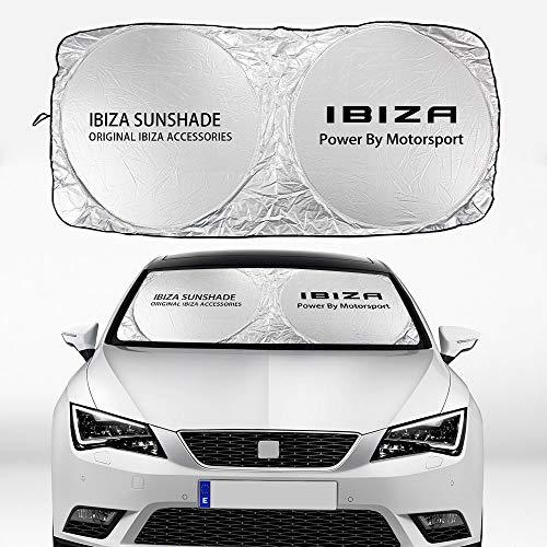 Visera solar Coche de parabrisas Correa de protección solar cubierta sol sol aislamiento UV Protección solar protector solerador Compatible con asiento Ibiza Accesorios para automóviles Parasoles