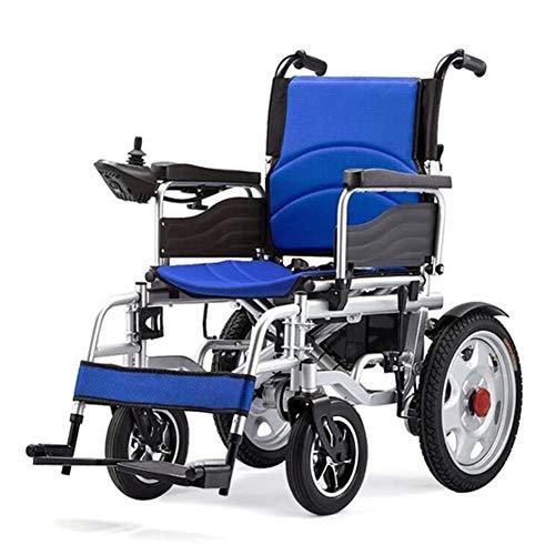 ZXMDP Elektrische rolstoel, licht en vouwframe, Atendant aandrijving, rolstoel, draagbare transit Travel Chairfor, geschikt voor ouderen, 12 Ah lithium batterij