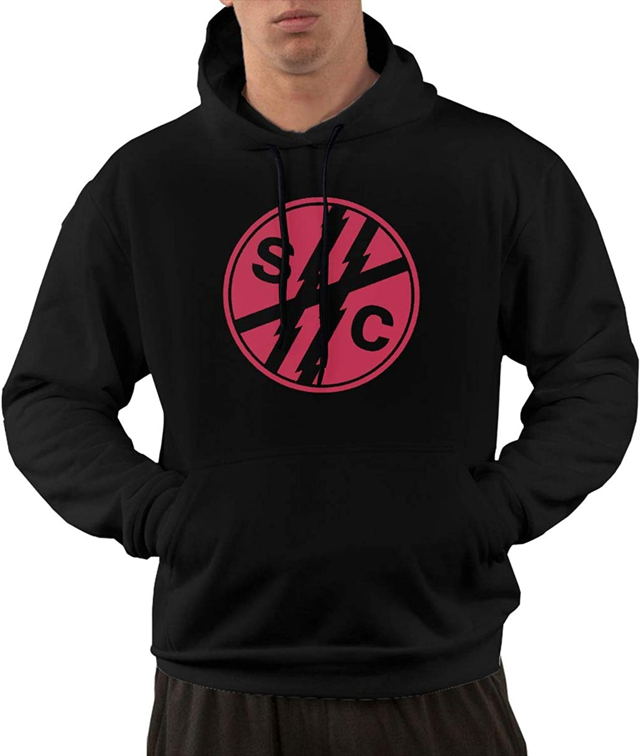 NolanO Foster The People Men's Hoodies Sweater With Pocket Black