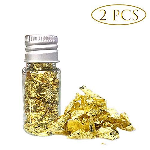 FuYouTa Pan de oro comestible Lámina de oro comestible Hojuelas de pa