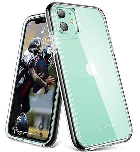 Humixx Clarity Clear Series iPhone 11 Case   10ft Military Grade Drop Protection   Dual Layer Shockproof Protect   Non-Yellowing Slim Fit Case with Soft Bumper Designed for Apple iPhone 11-6.1inch