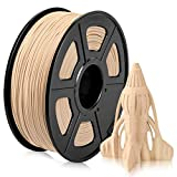Wood PLA Filament, PLA 3D Printer Filament 1.75mm for 3D Printer 3D Pen, Wood Fiber Filled PLA Wood Filament 1KG (2.2 lb) PLA Wood Color