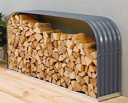 Vitavia Kaminholzregal Ardor 401, flach, Granit Kaminholzunterstand Bausatz Zincalume®