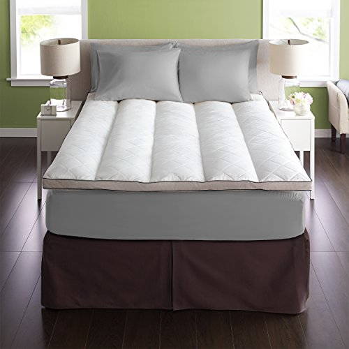 Pacific Coast Luxury EuroRest Mattress Topper 230 Thread Count Resilia Feathers - Twin