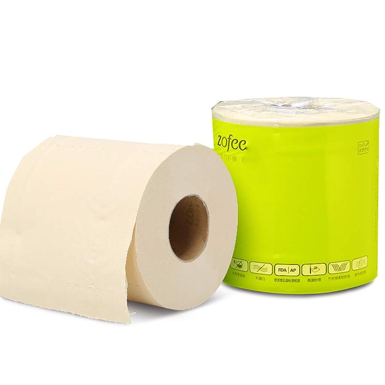 タール請願者付き添い人家庭用経済トイレットペーパー - 無香料竹繊維、3層、27ロール