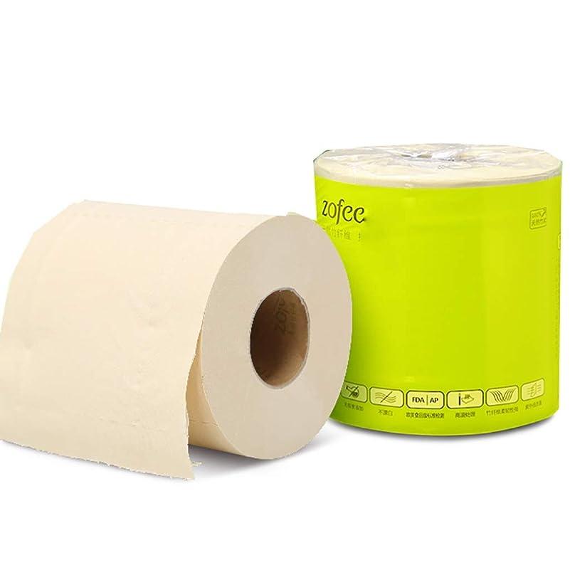 ワイド腫瘍プリーツ家庭用経済トイレットペーパー - 無香料竹繊維、3層、27ロール