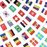Anley 184Ft 200 Countries String Flag - International Bunting Banners for Party Decorations, Bars, Sports Clubs, School Festivals, Celebrations - 8' x 5', 200 Flags, 184 Feet