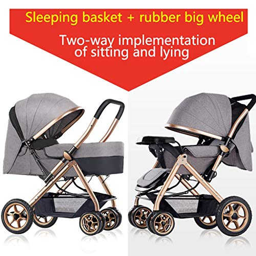 Review Of Baby Stroller can sit Reclining Light Stroller Folding Two-Way Stroller Child Baby Four Se...
