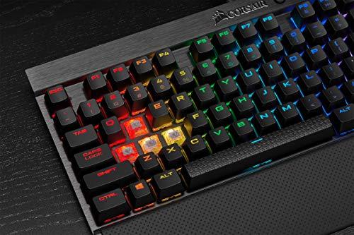Corsair K65 LUX RGB Tastiera Meccanica Gaming, Cherry MX Red, Retroilluminato RGB Multicolore, Italiano QWERTY, Nero