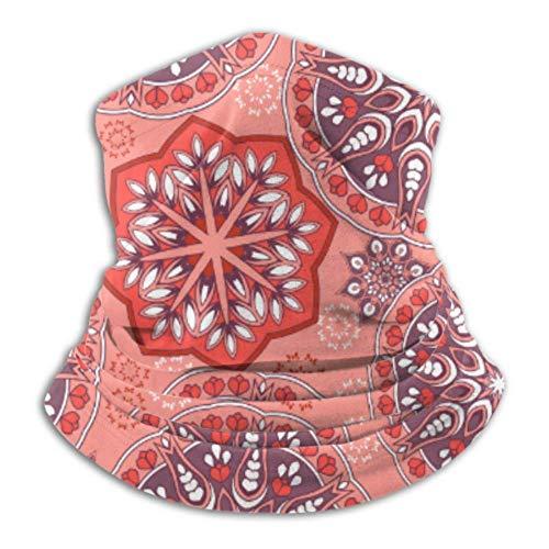 hangong Calentador de cuello de microfibra, tubo de polaina, calentador de orejas, máscara facial ornamental oriental con cordones