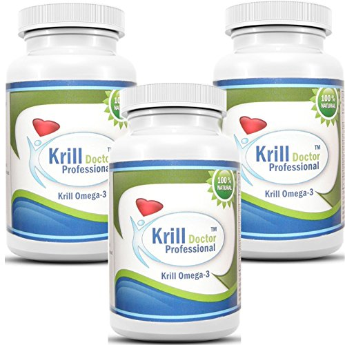 Krill Doctor Professional Antarctic Red Krill Oil 180 Softgels 1200mg Serving Omega-3 Fatty Acids...