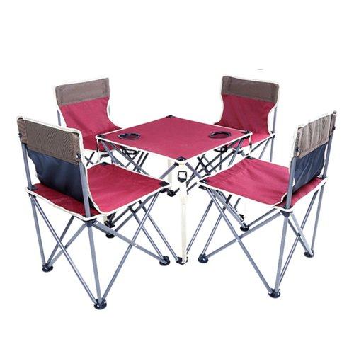 Fenka(フェンカ) 折り畳み アウトドア チェア テーブル 5点セット 椅子 背もたれ付き