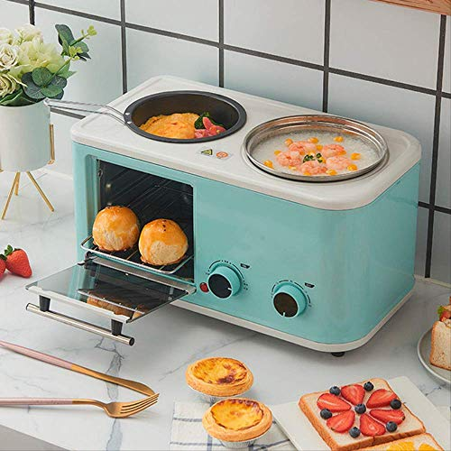 Best Buy! Electric 3 in 1 Household Breakfast machine mini bread toaster baking oven omelette fry pa...