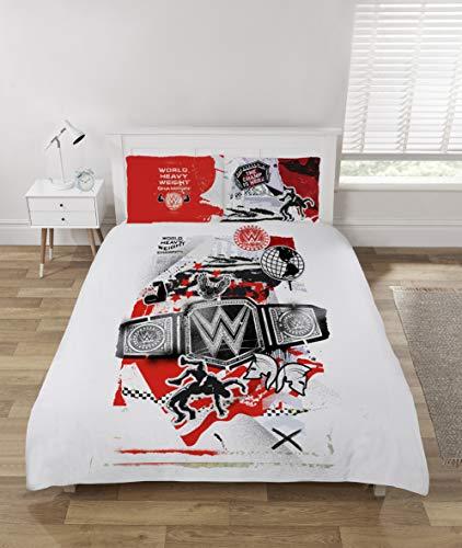 Coco Moon WWE World - Set di biancheria da letto per letto singolo o matrimoniale, per letto matrimoniale
