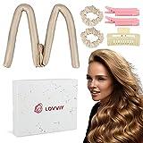 LOVVIY Silk Hair Curler Ribbon,100% Mulberry Seide Silk Lockenwickler, No Heat Silk Curls Headband...