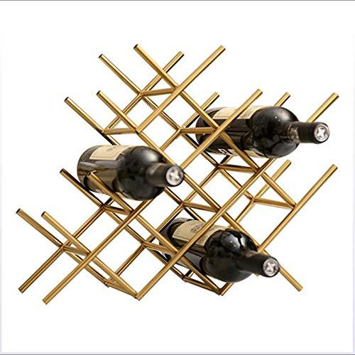 DZSF Desktop Honeycomb Estantería de vinos, sin ensamblaje-Metal Metal Metal Rack Freestanding Desktop Botella de Vino Rack, encimera geométrica Encimera