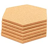 Hexagon Cork Board Tiles (5.9 x 7 Inches, 6-Pack)