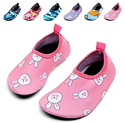 Giotto Kids Swim Water Shoes Quick Dry Non-Slip for Boys & Girls, G015E-Pink, 26-27