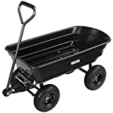 VonHaus 75L Garden Tipping Cart Dump Truck Wheelbarrow Trolley