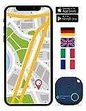 musegear® Schlüsselfinder mit Bluetooth App aus Deutschland I Maximaler Datenschutz | dunkelblau 1er