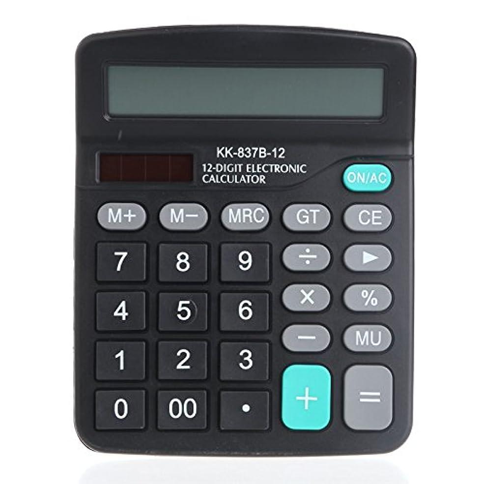 ハントスツールタヒチtanqifoデュアル電源ソーラー&バッテリーPoweredデスクトップデスク大きなボタン桁電卓