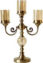 Candle Holder Metal Pillar Candle Holders Three-Head Candlestick Tabletop Candle Stand Wedding Candelabrum Candlelight Din...