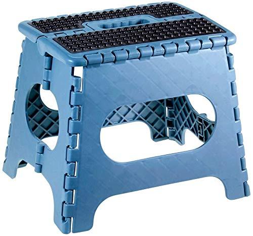 Hocker / Klapphocker / Tritthocker mit Griff, zusammenklappbar, bis 150 kg, Höhe 25 cm Klappstuhl tragbar für Küche, Bad, Garten
