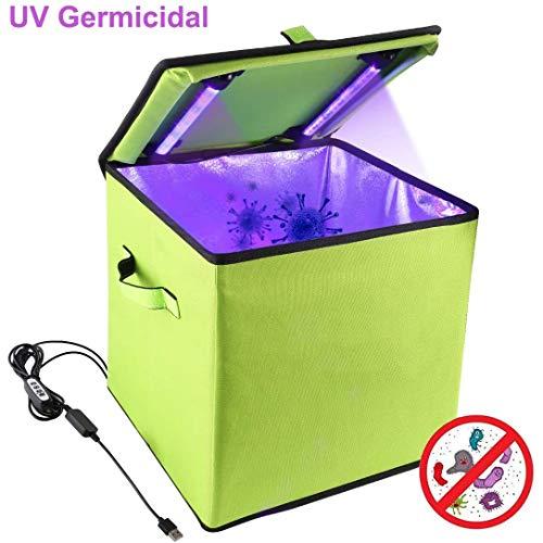 XKRSBS UV Sterilizer Box, 30cm Disinfection Tent Box Smartphone Sterilizer Portable UV Light Disinfection Underwear Sterilization Cleaning Box