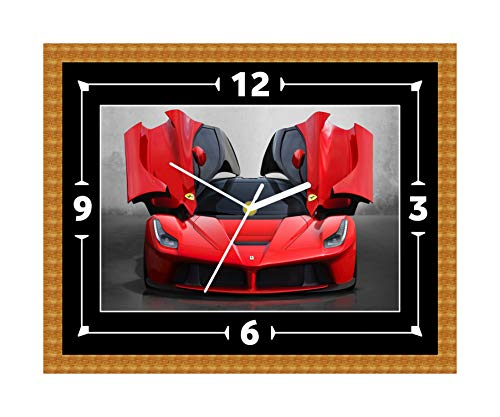 Ferrari Super Car Wall Clock Gift Present Christmas Birthday (Can Be Personalised)