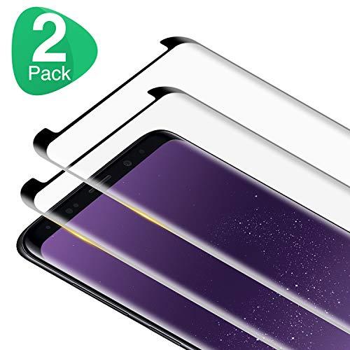 RIIMUHIR 2 Stück Panzerglas für Samsung Galaxy S8, Panzerglasfolie Schutzfolie HD Klar, 9H Härte, Anti-Kratzen, Blasenfreie, Anti-Öl, 3D HD Displayschutz für Galaxy S8
