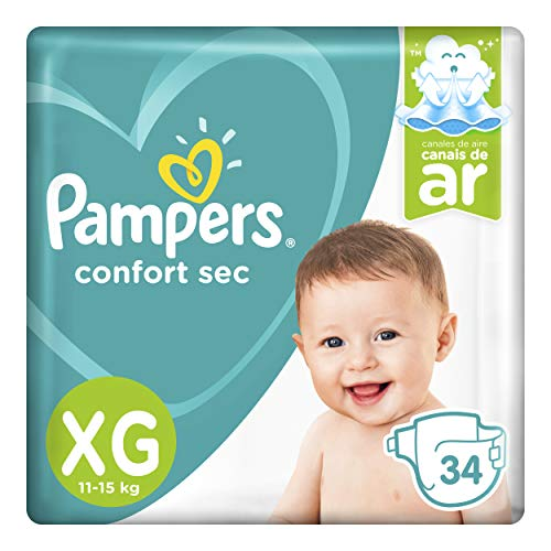 Fralda Pampers Confort Sec Xg 34 Unidades, Pampers