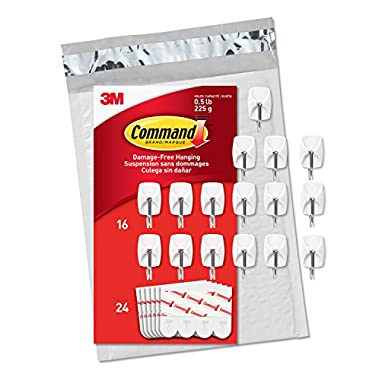 Command Wire Hooks, Small, 16-Hooks (GP067-16NA) - Easy to Open Packaging