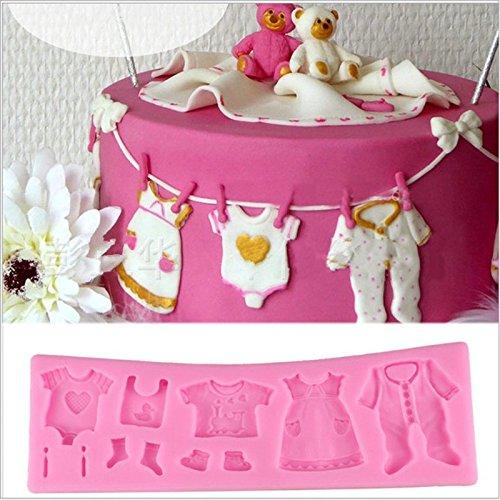Haodou 3D DIY Torta del Silicón Molde de Caramelo Bebé Ropa Zapatos Diseño Ducha Cocina Cake Decorar El Molde de Chocolate Hornear Herramientas