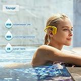 Tayogo Lettore MP3 Cuffie a Conduzione Ossea IPX8 Subacqueo Nuoto 5m...