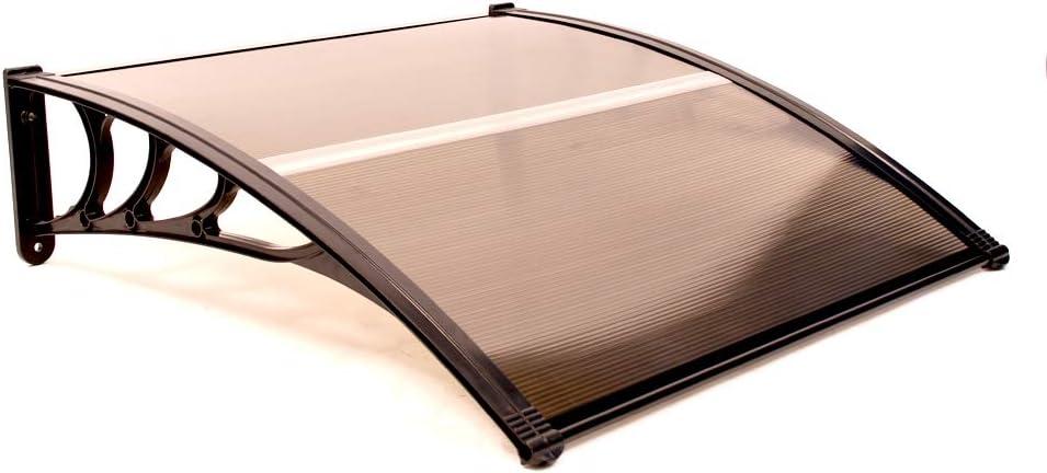 ALEKO Excellent DC40X40BR 70% OFF Outlet Polycarbonate Outdoor Canopy Window Garden Door