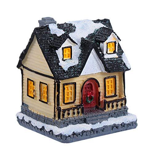 PRETYZOOM Masa de arcilla con luces y casita de jengibre para Navidad,...