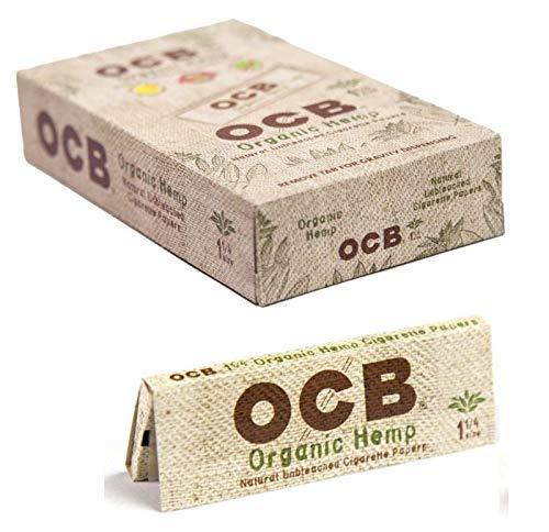 OCB ORG HEMP 1 1/4 WIDE Si ze-Full Box (24 Books), 1.25, brown