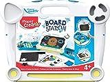 Maped Creativ Board Station - Station de Dessin pour Enfants avec Ardoise Double Face - Dessins Effaçables Craies et Feutres -...
