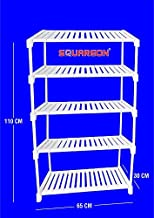 SQUAREON INDUSTRIES Plastic Multipurpose Stand/Rack/Organiser (Standard Size, White)