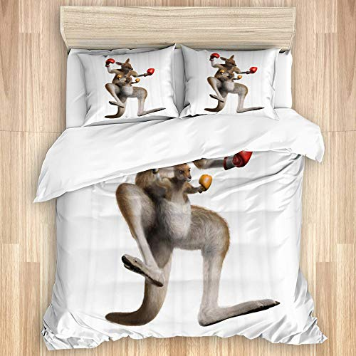 ASNIVI Bettbezug-Set aus Baumwolle La...